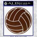Volleyball0 2 Decal Sticker BROWN Vinyl 120x120