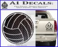 Volleyball0 2 Decal Sticker Carbon FIber Black Vinyl 120x97
