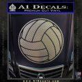 Volleyball0 2 Decal Sticker Carbon FIber Chrome Vinyl 120x120