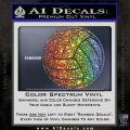 Volleyball0 2 Decal Sticker Glitter Sparkle 120x120