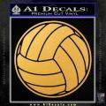Volleyball0 2 Decal Sticker Gold Vinyl 120x120