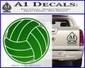 Volleyball0 2 Decal Sticker Green Vinyl Logo 120x97