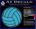 Volleyball0 2 Decal Sticker Light Blue Vinyl 120x97