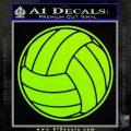 Volleyball0 2 Decal Sticker Lime Green Vinyl 120x120