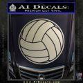 Volleyball0 2 Decal Sticker Metallic Silver Emblem 120x120