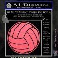 Volleyball0 2 Decal Sticker Pink Emblem 120x120
