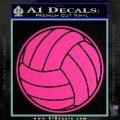 Volleyball0 2 Decal Sticker Pink Hot Vinyl 120x120