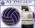 Volleyball0 2 Decal Sticker PurpleEmblem Logo 120x97