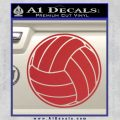 Volleyball0 2 Decal Sticker Red 120x120
