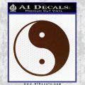 Yin Yang Classic Decal Sticker BROWN Vinyl 120x120