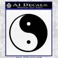 Yin Yang Classic Decal Sticker Black Vinyl 120x120