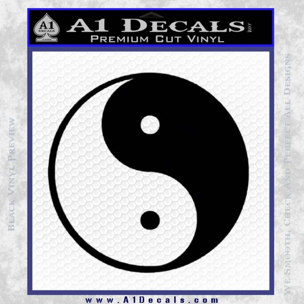 Yin Yang Classic Decal Sticker Black Vinyl