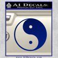 Yin Yang Classic Decal Sticker Blue Vinyl 120x120