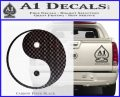 Yin Yang Classic Decal Sticker Carbon FIber Black Vinyl 120x97