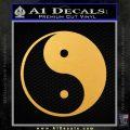 Yin Yang Classic Decal Sticker Gold Vinyl 120x120