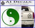 Yin Yang Classic Decal Sticker Green Vinyl Logo 120x97