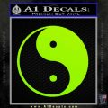 Yin Yang Classic Decal Sticker Lime Green Vinyl 120x120