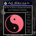 Yin Yang Classic Decal Sticker Pink Emblem 120x120