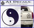 Yin Yang Classic Decal Sticker PurpleEmblem Logo 120x97