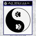 Yin Yang Paws Decal Sticker Black Vinyl 120x120