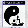 Yin Yang Yoga Decal Sticker Black Vinyl 120x120