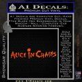 Alice In Chains Decal Sticker Orange Vinyl Emblem 120x120