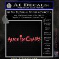 Alice In Chains Decal Sticker Pink Vinyl Emblem 120x120