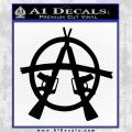 Anarchy M 16 Rifles Decal Sticker Black Logo Emblem 120x120