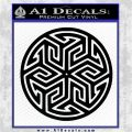 Ancient Celtic Protection Rune Decal Sticker Black Logo Emblem 120x120