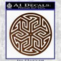 Ancient Celtic Protection Rune Decal Sticker Brown Vinyl 120x120