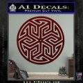 Ancient Celtic Protection Rune Decal Sticker Dark Red Vinyl 120x120