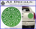 Ancient Celtic Protection Rune Decal Sticker Green Vinyl 120x97