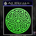 Ancient Celtic Protection Rune Decal Sticker Lime Green Vinyl 120x120