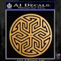Ancient Celtic Protection Rune Decal Sticker Metallic Gold Vinyl Vinyl 120x120
