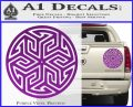 Ancient Celtic Protection Rune Decal Sticker Purple Vinyl 120x97