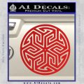 Ancient Celtic Protection Rune Decal Sticker Red Vinyl 120x120