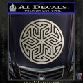 Ancient Celtic Protection Rune Decal Sticker Silver Vinyl 120x120