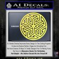 Ancient Celtic Protection Rune Decal Sticker Yelllow Vinyl 120x120