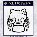 Angel Wing Kitty Decal Sticker Black Logo Emblem 120x120