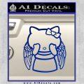 Angel Wing Kitty Decal Sticker Blue Vinyl 120x120