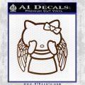 Angel Wing Kitty Decal Sticker Brown Vinyl 120x120