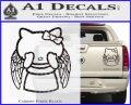 Angel Wing Kitty Decal Sticker Carbon Fiber Black 120x97