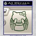 Angel Wing Kitty Decal Sticker Dark Green Vinyl 120x120