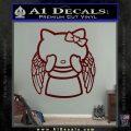 Angel Wing Kitty Decal Sticker Dark Red Vinyl 120x120