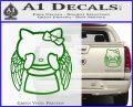 Angel Wing Kitty Decal Sticker Green Vinyl 120x97