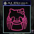 Angel Wing Kitty Decal Sticker Hot Pink Vinyl 120x120