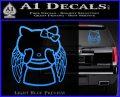 Angel Wing Kitty Decal Sticker Light Blue Vinyl 120x97