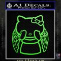 Angel Wing Kitty Decal Sticker Lime Green Vinyl 120x120