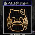 Angel Wing Kitty Decal Sticker Metallic Gold Vinyl Vinyl 120x120