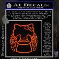 Angel Wing Kitty Decal Sticker Orange Vinyl Emblem 120x120